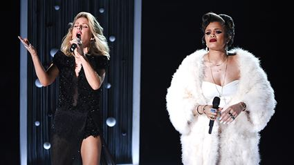 WATCH: Ellie Goulding & Andra Day's Performance At The Grammys 2016