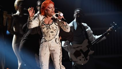 Lady Gaga's Tribute To David Bowie At The 58th Grammy Awards