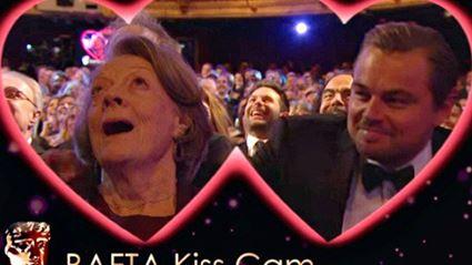 Leonardo DiCaprio and Dame Maggie Smith on Kiss Cam