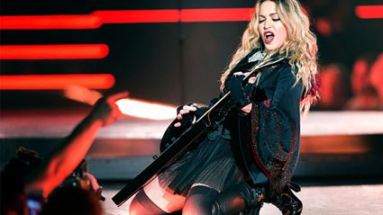 Madonna Breaks Down On Stage For Son Rocco