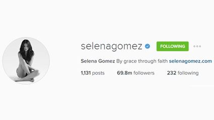 Selena Gomez Is Officially The Most-Followed Person On Instagram