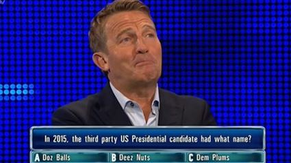 """Bradley Walsh Back At It With """"Deez Nuts"""" Question On The Chase"""