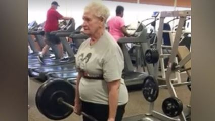78-Year-Old Grandma Deadlifts 225 lbs At The Gym