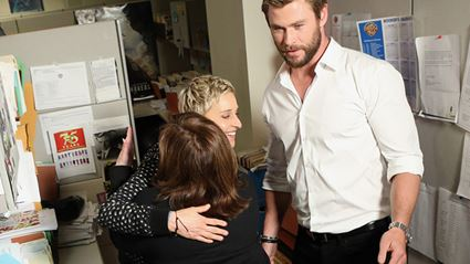 Office Employees Lose The Plot When Ellen Surprises Them With Chris Hemsworth