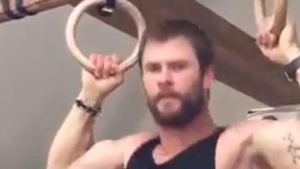 Chris Hemsworth Shares Video of Him Working Out and We Thank Him