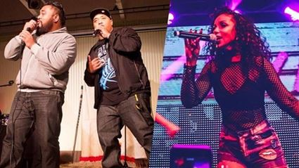 Mya and NZ's own Adeaze performs 90's throwback bangers