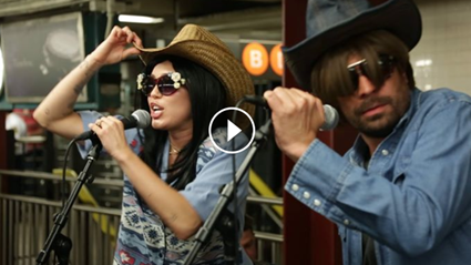 Miley Cyrus and Jimmy Fallon go undercover and surprise subway-goers with 'Party in the USA'