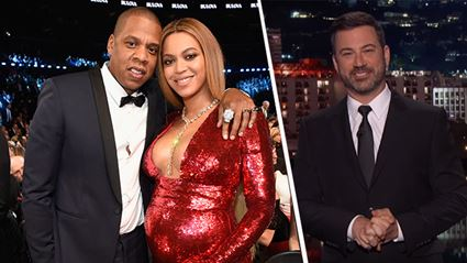 """LOL Jimmy Kimmel shares """"exclusive first photo"""" of Beyonce and Jay-Z's twins"""