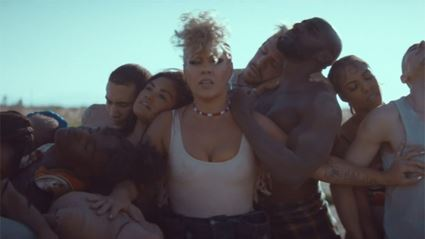 Watch the powerful music video for Pink's latest song