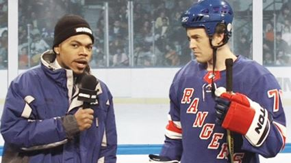 Chance The Rapper is a hilarious clueless ice hockey reporter
