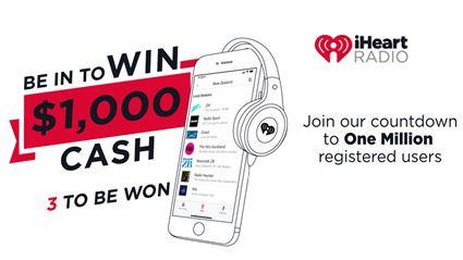 iHeartRadio One Million Registered Users