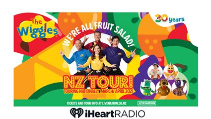 Win tickets to The Wiggles We're All Fruit Salad New Zealand Tour for 2021